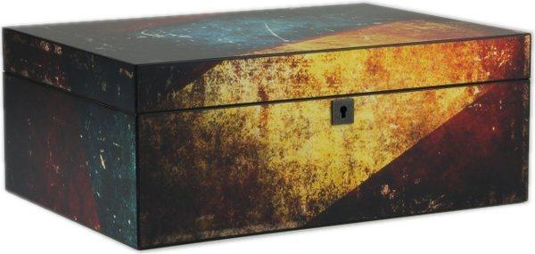 Humidor antik flerfarvet