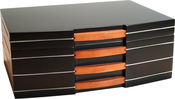 Humidor sBlack Finish Frosted