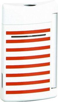 Zapalovač S.T. Dupont Minijet 10108 - bílá s námořnickými červenými pruhy