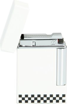 ST Dupont Ligne 8 Lighter sjakkbrett hvit