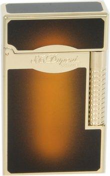 S.T. Dupont Line 2 Le Grand Αναπτήρας Sun Burst Καφέ Λάκα/Χρυσό