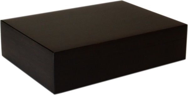 Humidor Bamboo Black Frosted 20