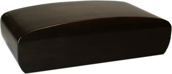 Humidor Bamboo Black Frosted Konvex 80