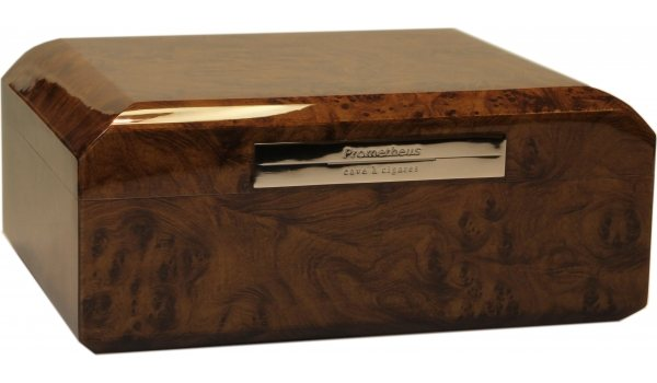 Prometheus Octagon Humidor Walnut 50 Cigars