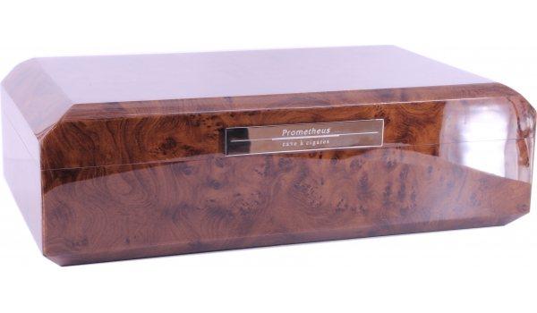 Humidor Prometheus od orahovine za 100 cigara osmerokutni