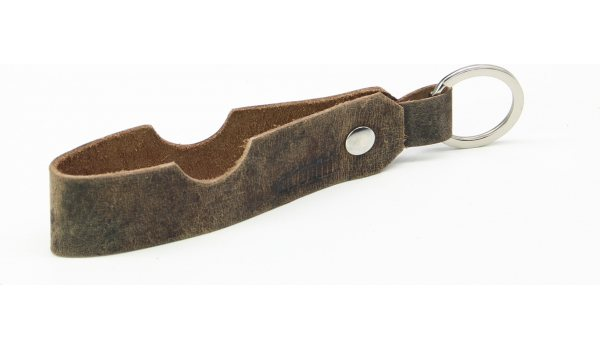 adorini cigar & pipe rest leather keychain
