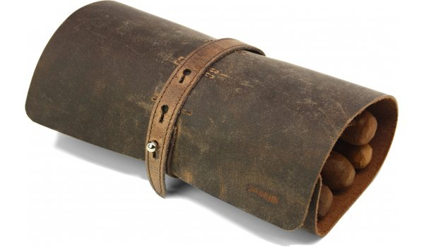 adorini Cigar Roll Real Leather Brown