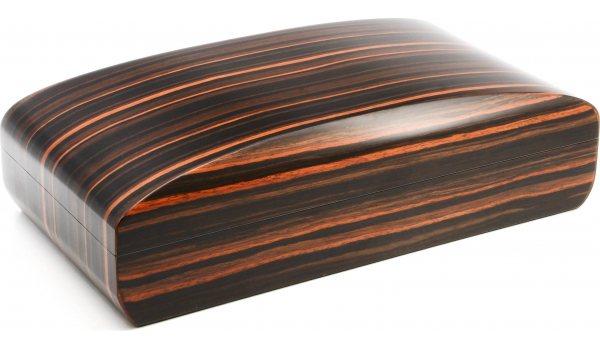 Humidor Pegasus od makassara mat zaobljeni 80 cigara