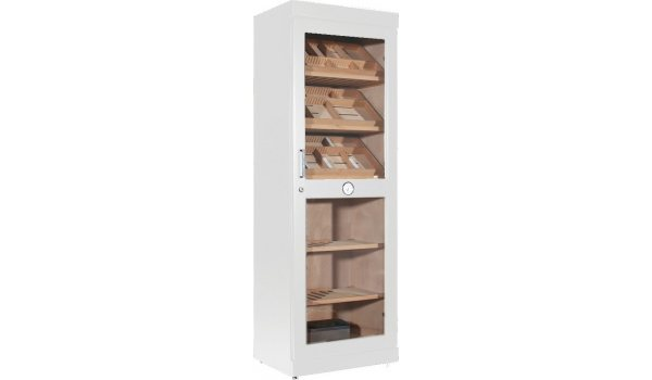 adorini Roma Humidor Cabinet White with Electronic Humidifier