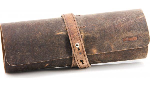 adorini Cigar rulle ægte læder brun