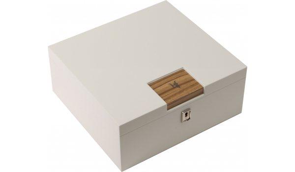 Chytrý stolní humidor HF Barcelona W bílý