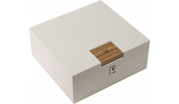 HF Barcelona W Smart desktop humidor white