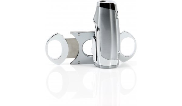 Giftset cigar lighter and cutter