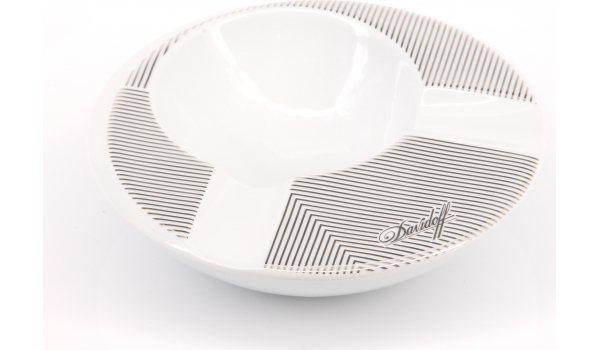 Davidoff ashtray porcelain round 2 cigars ADF