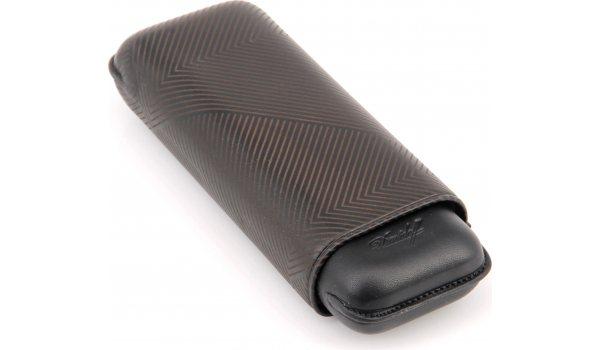 Davidoff cigar case XL-2 leather black leaf