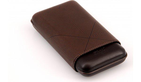 Davidoff cigar case XL-3 leather brown leaf
