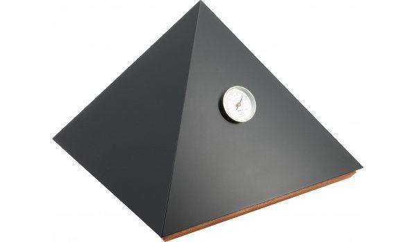 Humidor adorini Pyramid Deluxe M crni