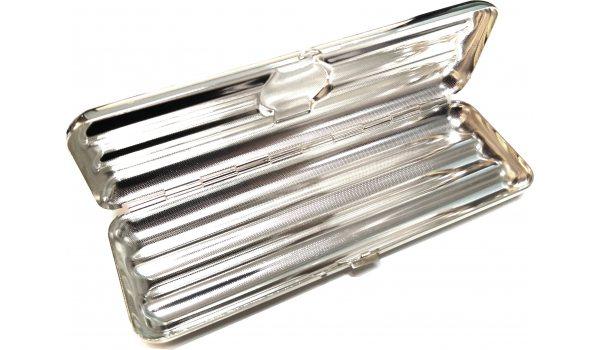 Pouzdro na 3 doutníky Corona mincovní stříbro