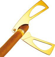 adorini Cigar Scissors Gold Plated