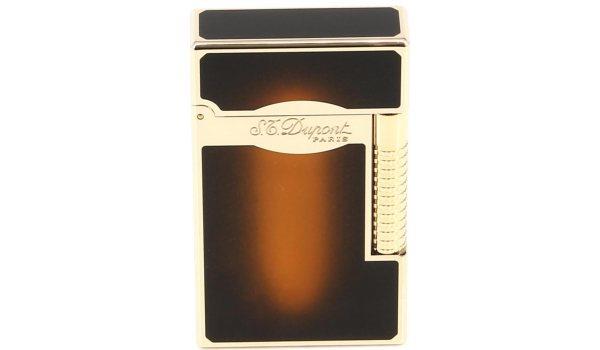 S.T. Dupont Line 2 Lighter Le Grand ruskea auringonvalo lakka/kulta