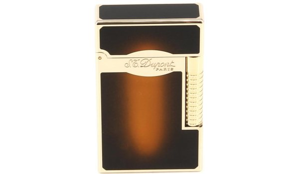 S.T. Dupont Line 2 Lighter Le Grand solbrun lak/guld