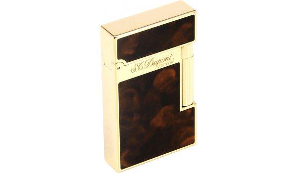 Zapalovač S.T. Dupont Atelier čínský lak, tmavě hnědá