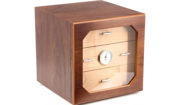 adorini Humidor Chianti M Deluxe Walnut Drawers with Wooden Front