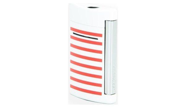 Isqueiro S.T. Dupont Minijet - Listras Azul marinho/Branco/Vermelho