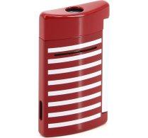 Zapalovač S.T. Dupont Minijet 10107 - červená s námořnickými bílými pruhy