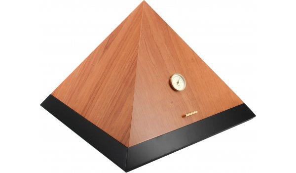 adorini Humidor Pyramid Deluxe L Bi-Color Cedro Black