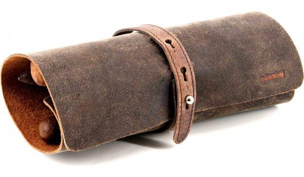 Suport rulat pentru trabucuri adorini piele naturală maro