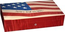 Elie Bleu Stars & Stripes Flag 110-Cigar Humidor
