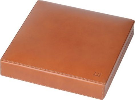Dunhill Leather Travel Humidor Terracotta