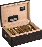 Diamand Krone The Alexander Humidor for 160 Cigars Ebony Genskin