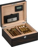 Dimaond Crown Humdior The Alexander for 40 Cigars Ebony Gloss