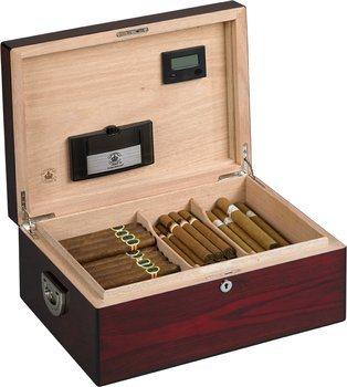 Diamand Krone The Oxford Humidor for 160 Cigars Rosentræ Genskin