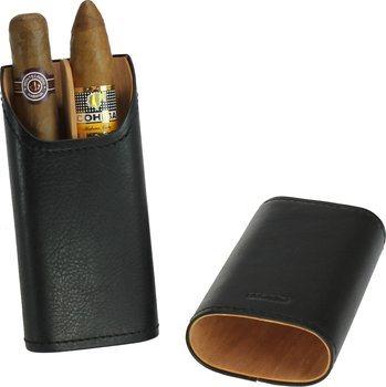 adorini Genuine Leather Cigar Case for 2 Double Coronas