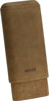 adorini Real Leather Case for 2-3 Cigars Brown
