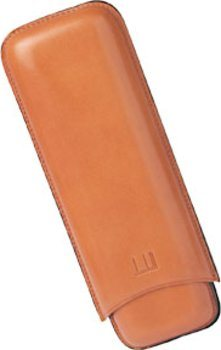 Dunhill Leather Cigar Case for Two Churchills Terracotta