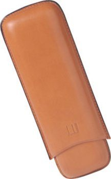 Dunhill Leather Cigar Case for Two Robustos Terracotta