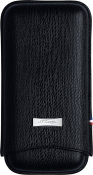 S.T. Dupont Liberté Case for 3 Cigars Black