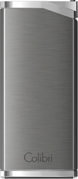 Colibri Delta Lighter Gunmetal Grey/Chrome