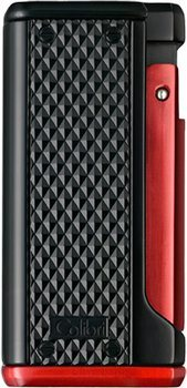Colibri Monza III Triple Jet Flame Lighter Black/Red