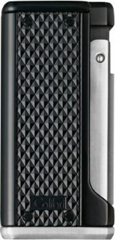 Colibri Monza III Triple Jet Flame Lighter Black/Silver