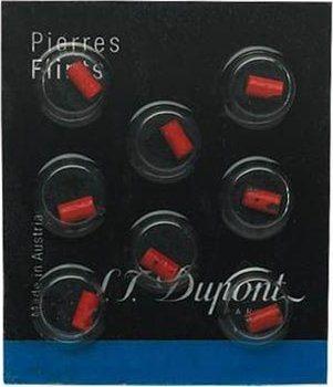 S.T. Dupont Flints 8 stk Rød