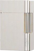 S.T. Dupont Gatsby Lighter Fine Ridges Silver