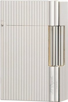 S.T. Dupont Gatsby Lighter Fine Ridges Silver