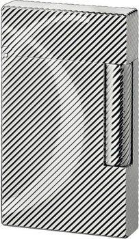 S.T. Dupont Ligne 2 Lighter D Diagonal Lines Silver