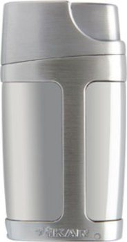 Xikar Element Dual Flame Lighter Silver