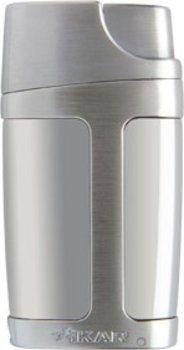Xikar Element Dual Flamme Lighter Sølv